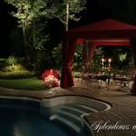 Réalisation d'éclairage de paysagement de piscine