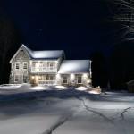 Réalisation d'éclairage en hiver