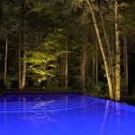 Réalisation d'éclairage de piscine creusée