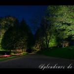 Réalisation d'éclairage de jardin public
